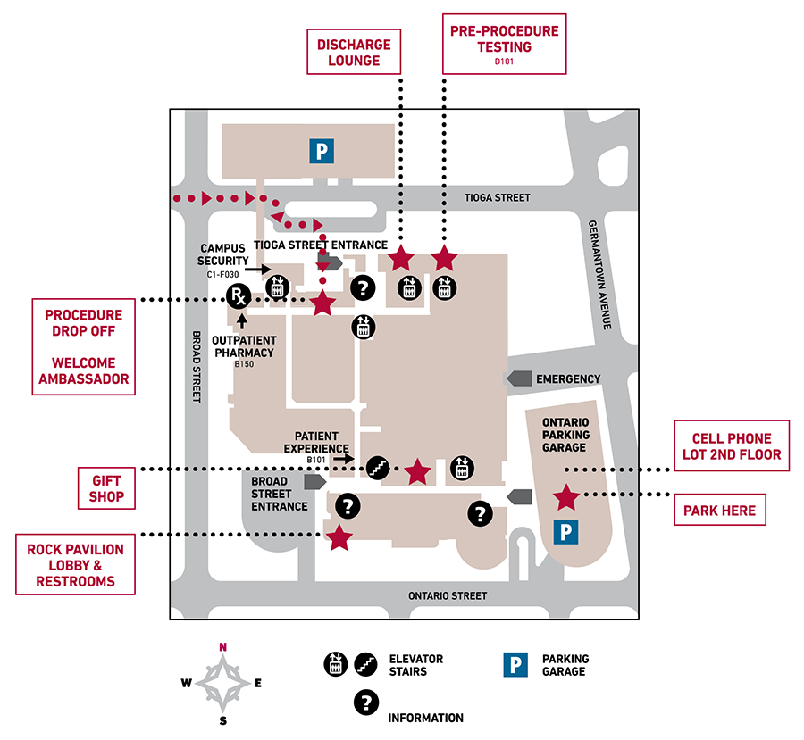 Elective Procedures Map: Finding Your Way on Temple University Hospital Campus
