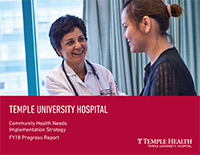 FY18 Progress Report Cover - Temple University Hospital