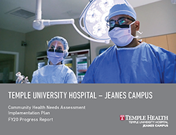 FY20 Jeanes Campus Progress Report Cover
