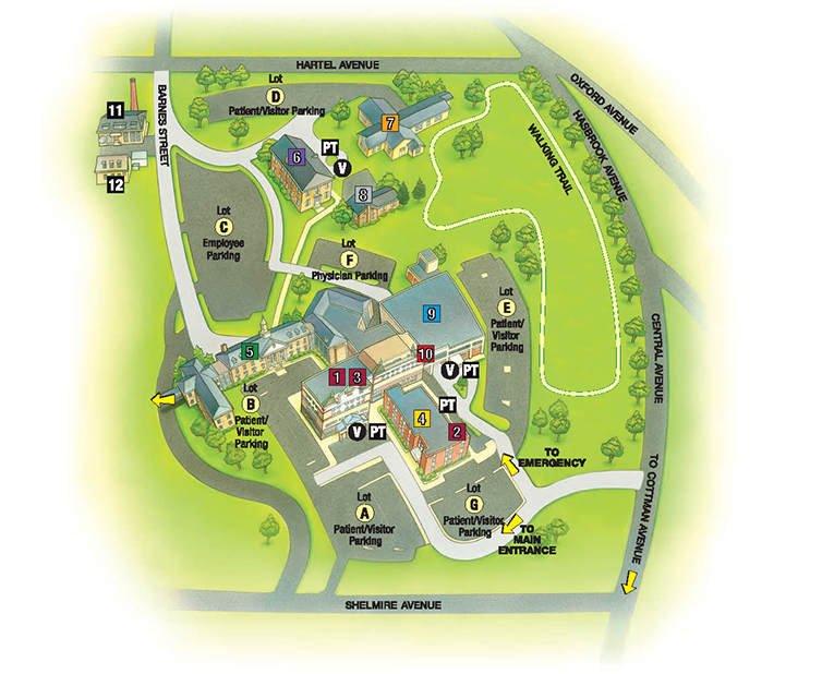 Map of Temple University Hospital – Jeanes Campus