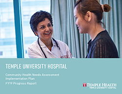 Temple University Hospital Community Health FY19 Progress Report Cover