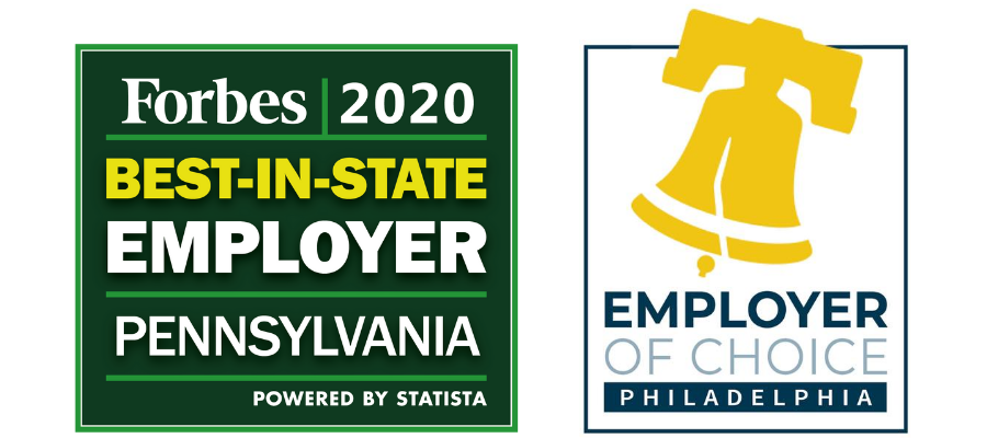 2020 Forbes Best-in-State Employer in Pennsylvania Award and Philadelphia Employer of Choice Award