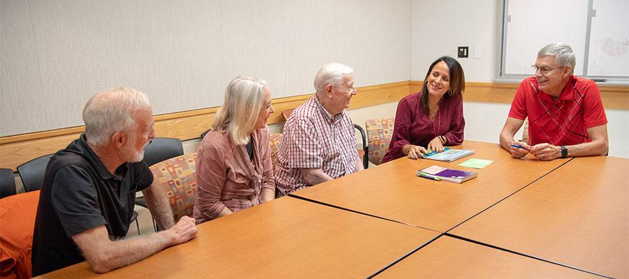 Lung disease support group at the Temple Lung Center