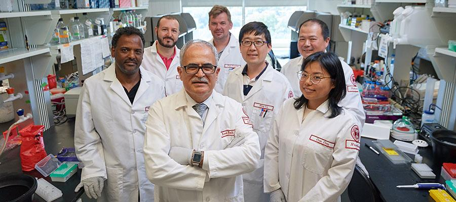 Dr. Khalili and the HIV research team at Temple Health