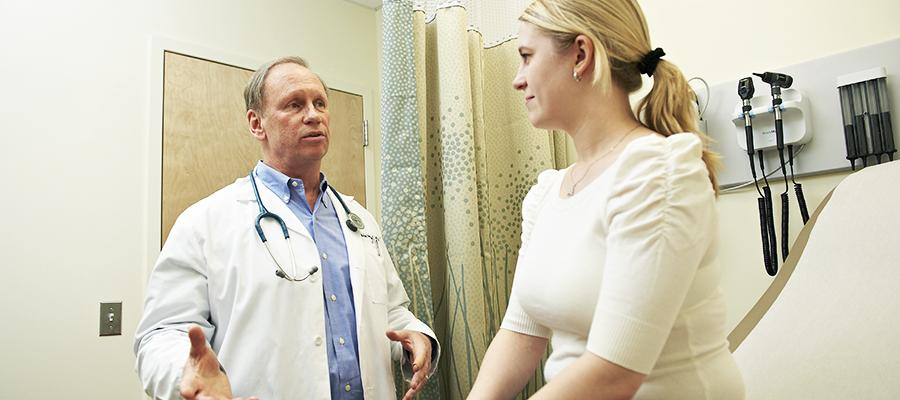 Physician discusses patient conditions