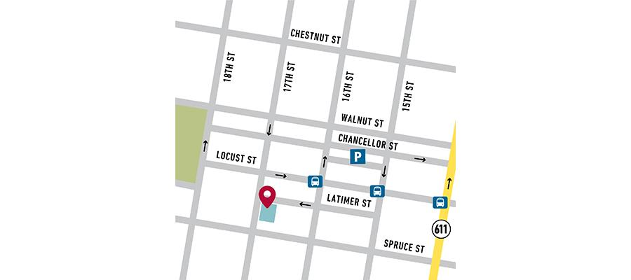 Temple Health Center City map