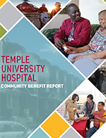 Cover of 2019 Temple University Hospital Community Benefit Report