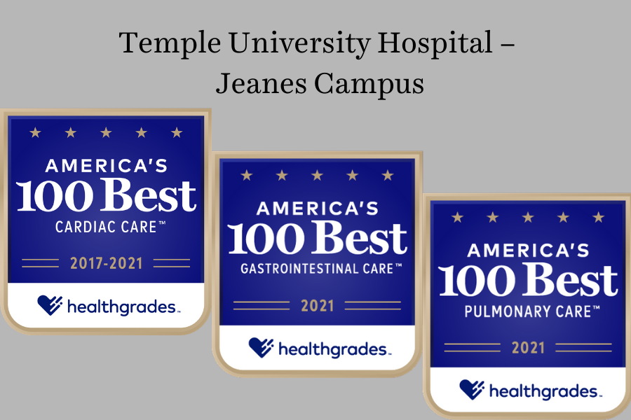 Healthgrades 2021 Temple University Hospital - Jeanes Campus Recognitions