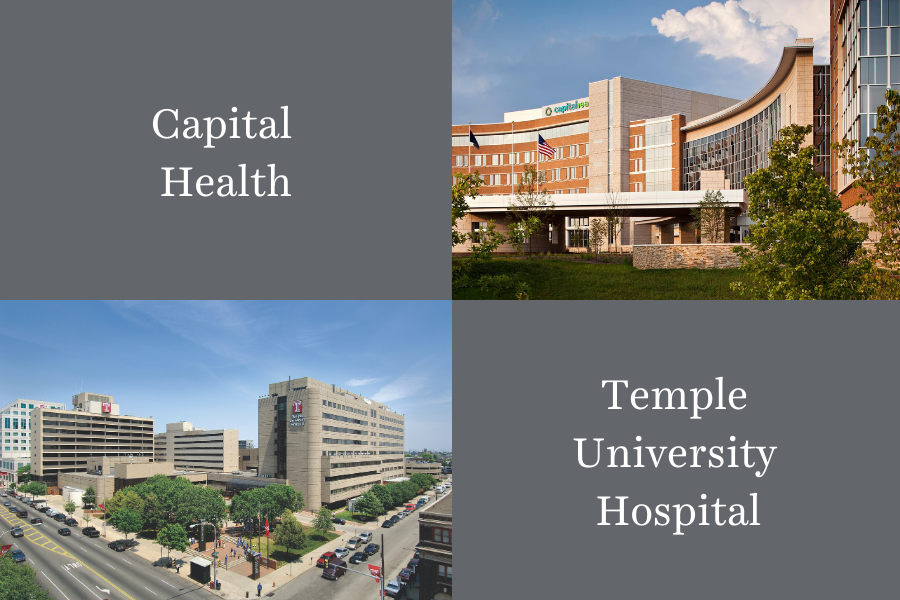 Capital Health and Temple University Hospital campuses