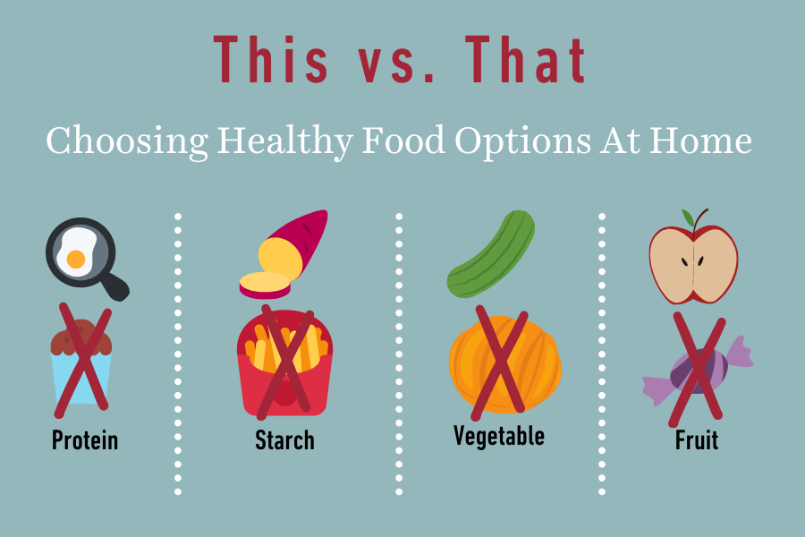 This vs That: Choosing healthy food options at home