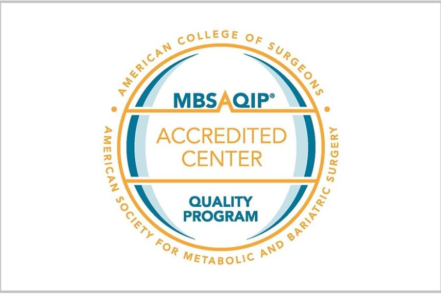 Badge - MBSAQIP Accredited Center Quality Program for Metabolic and Bariatric Surgery