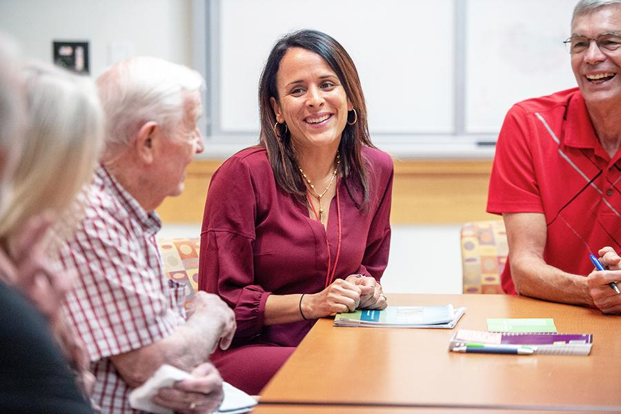 Patients attend support group