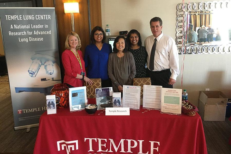 Temple Health staff at lung center booth