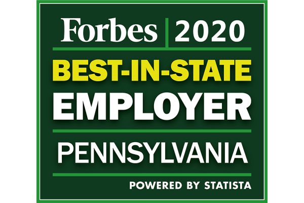 2020 Forbes Best-in-State Employer in Pennsylvania Award