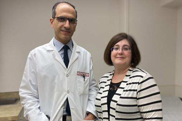 Lynda with her thoracic surgeon, Charles Bakhos, MD