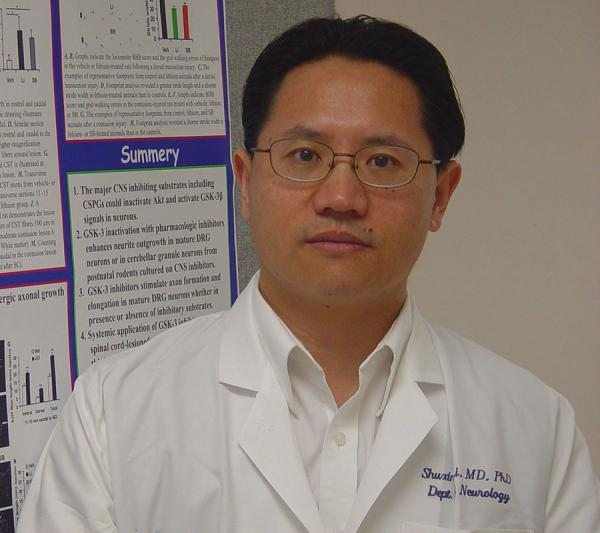 Shuxin Li, MD, PhD, Professor of Anatomy and Cell Biology at Shriners Hospital's Pediatric Research Center at LKSOM, and a senior investigator on this new study.