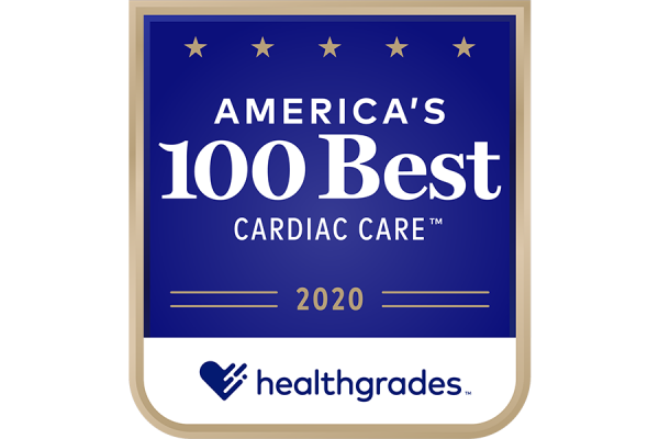2020 Healthgrades America's 100 Best Cardiac Care badge