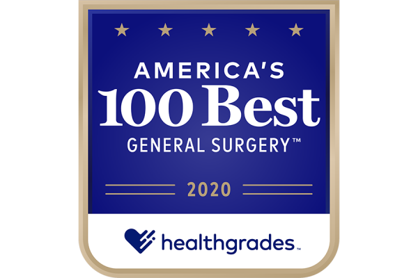 2020 Healthgrades America's 100 Best General Surgery badge