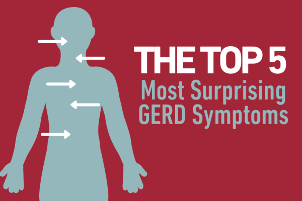 The top 5 most surprising GERD symptoms graphic