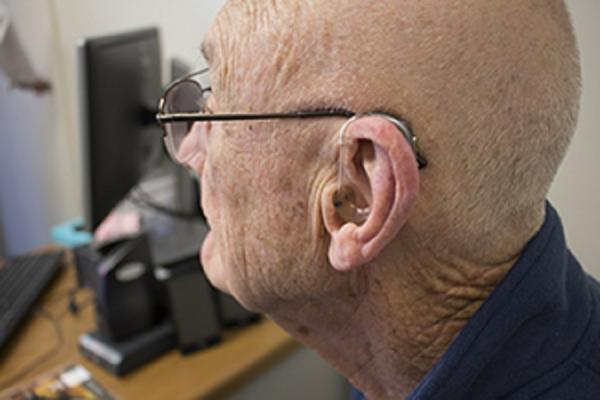 Temple Head & Neck patient Ken's cochlear implant