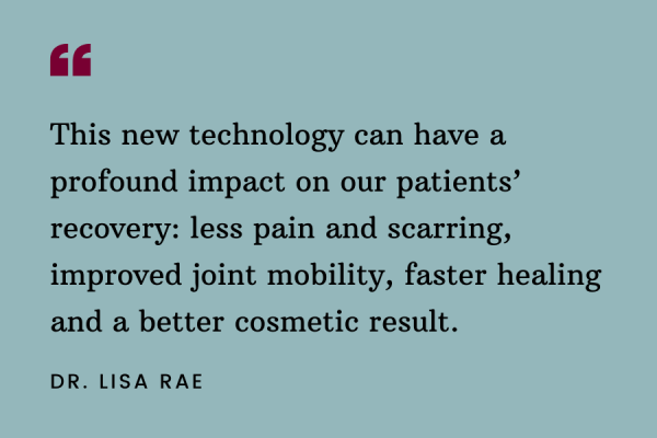 Dr. Lisa Rae - Burn Care Quote