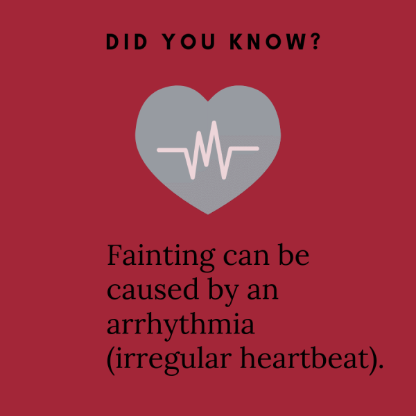 Fainting can cause arrhythmia graphic