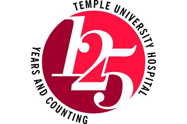 Temple University Hospital 125th anniversary logo