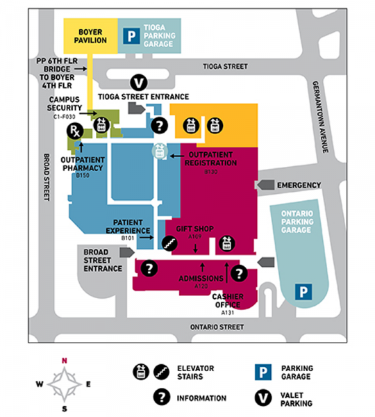 Campus Map Temple University Hospital Temple Health